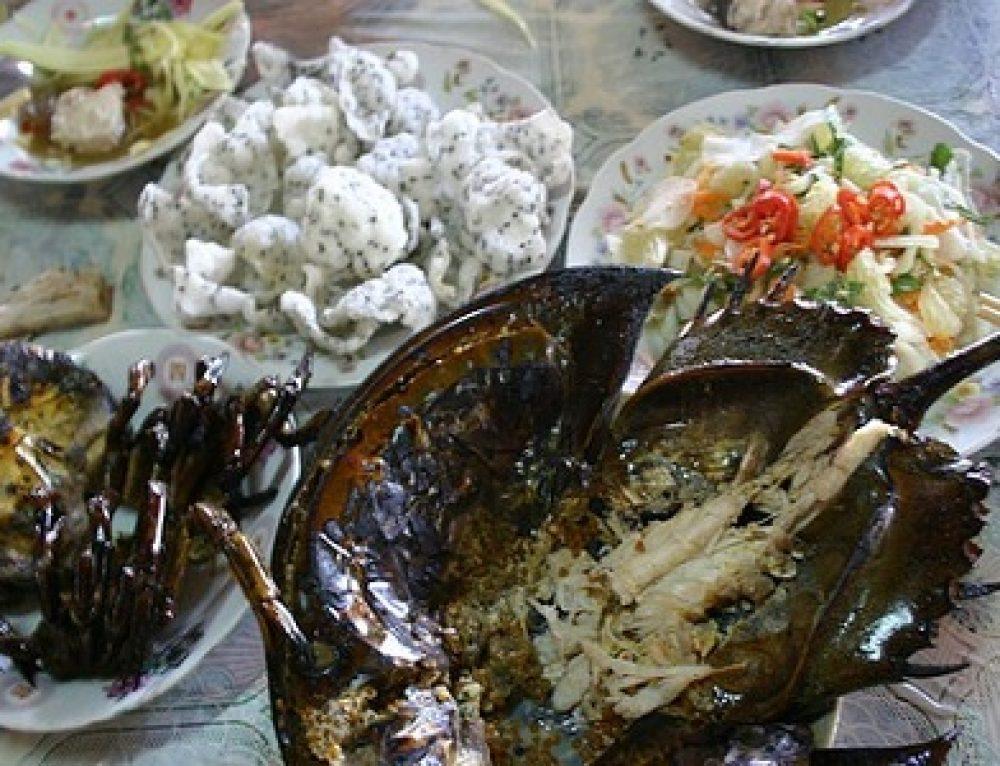 Sea food baked
